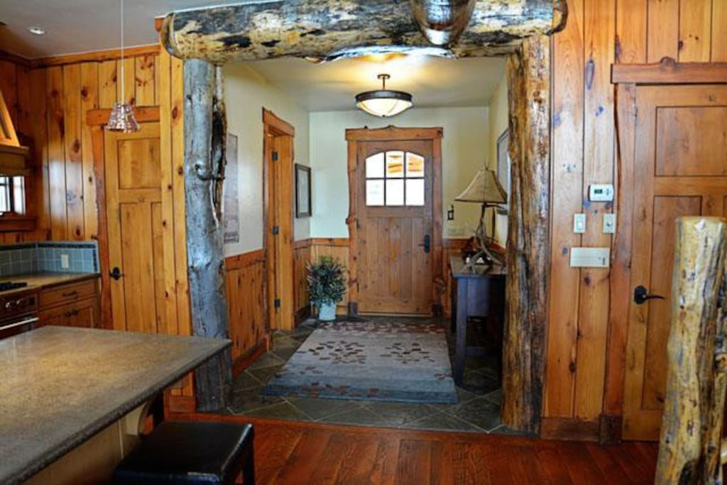 As you enter the Skye Lodge y