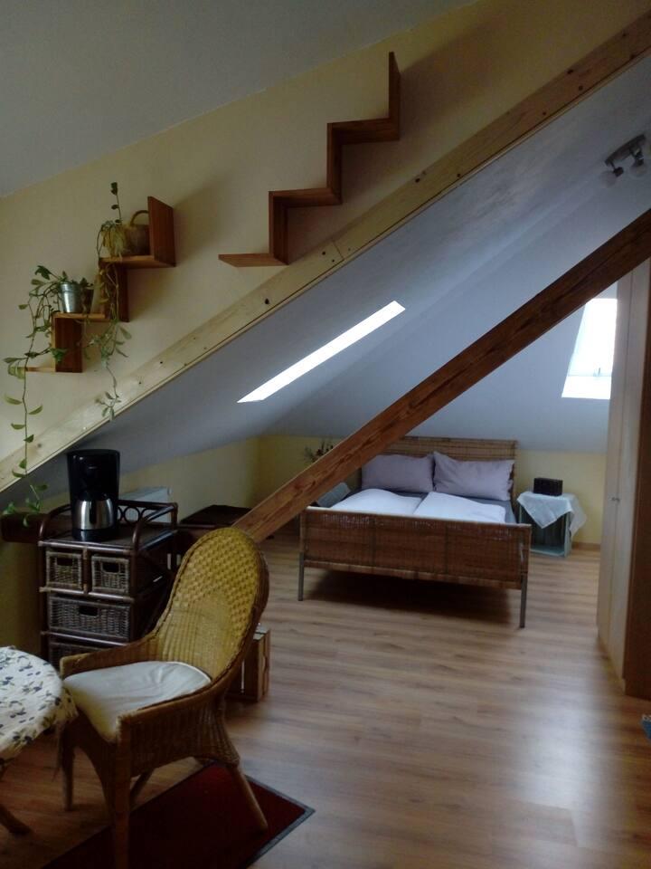 Gemütliches Dachzimmer mit eigener Terrasse