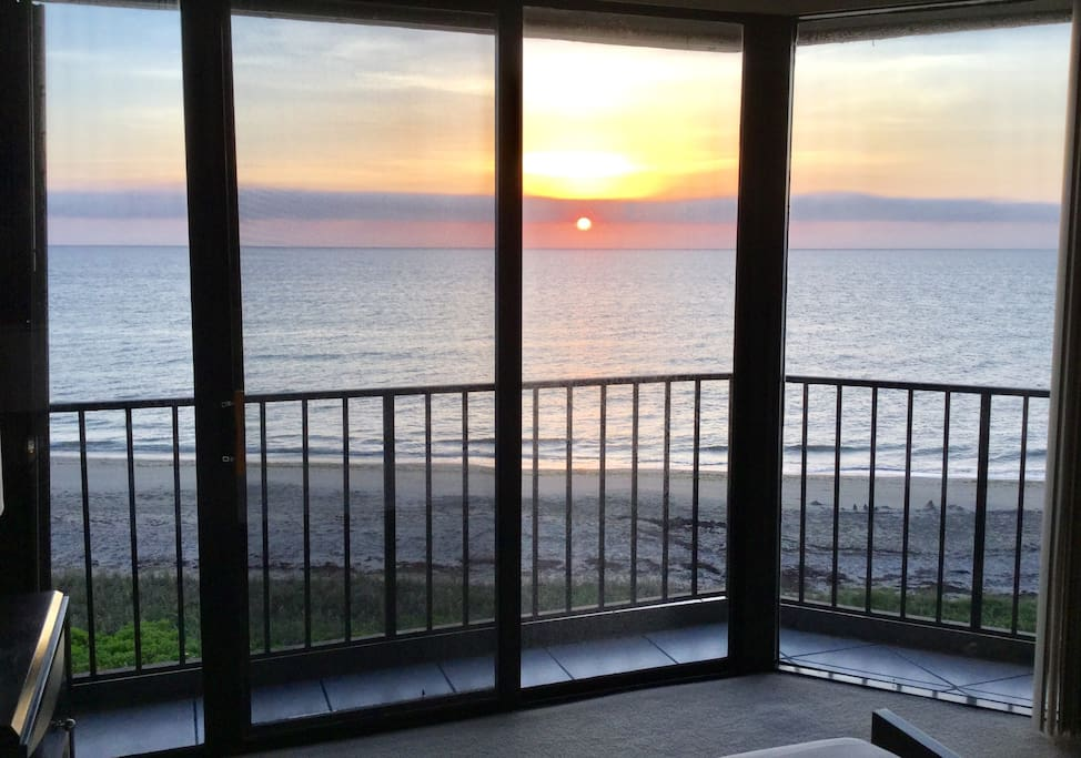Master bedroom view at sunrise