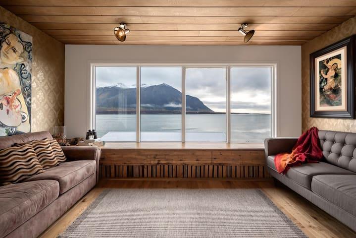 Zimmer mit Meerblick in Panorama Künstler-Zuhause