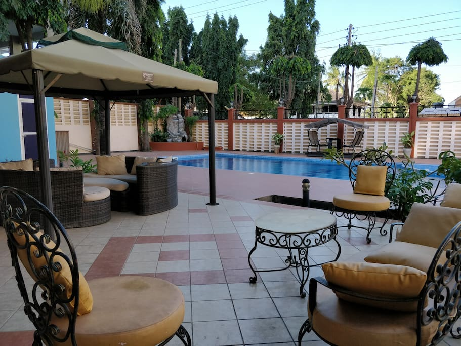 Outdoor Courtyard and Pool