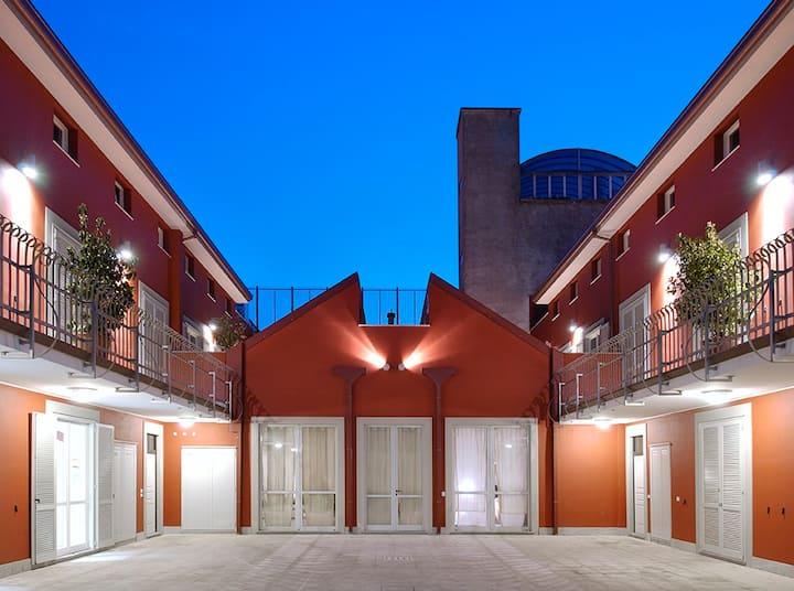 Suite e terrazzo in Loft di design.