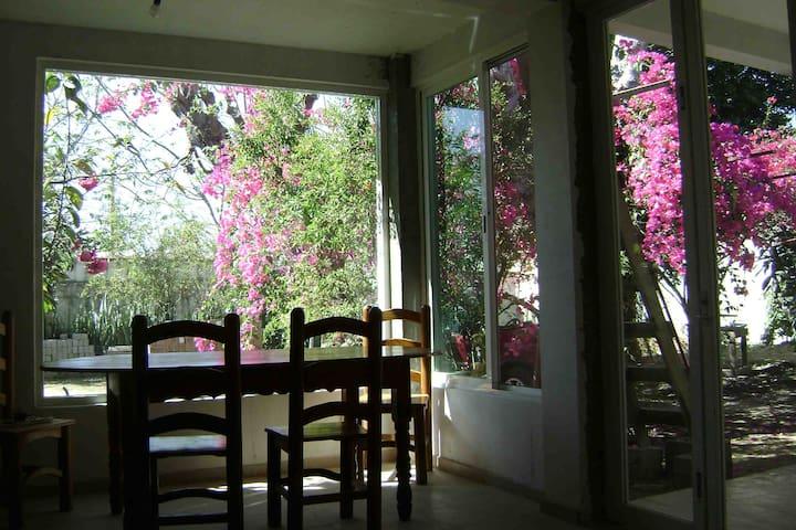 Casa apacible c/ jardín, Centro Oaxaca a 30 min.