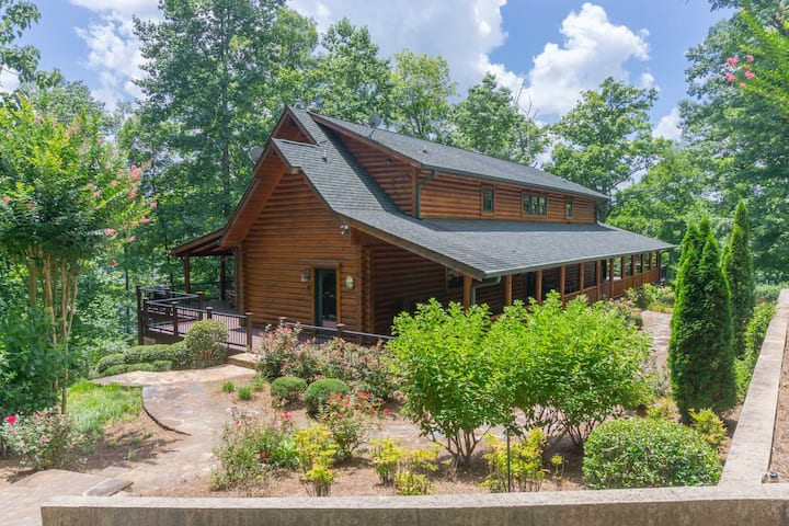 Lake Lanier Western Style Log Home