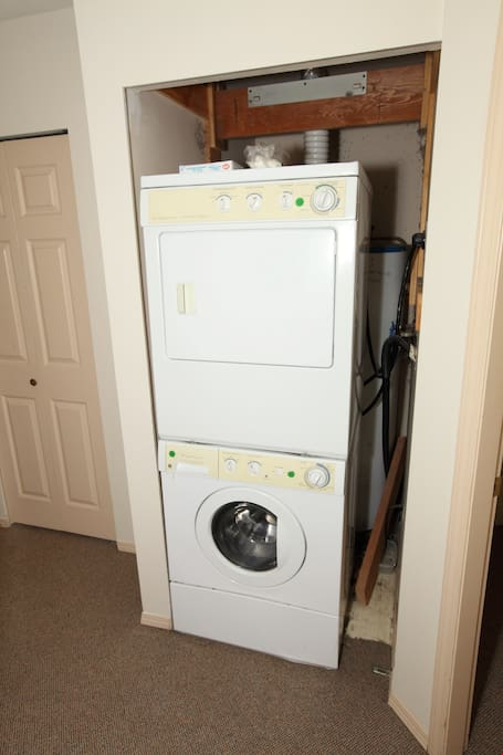 Do your laundry with ease in your ensuite laundry facilities.