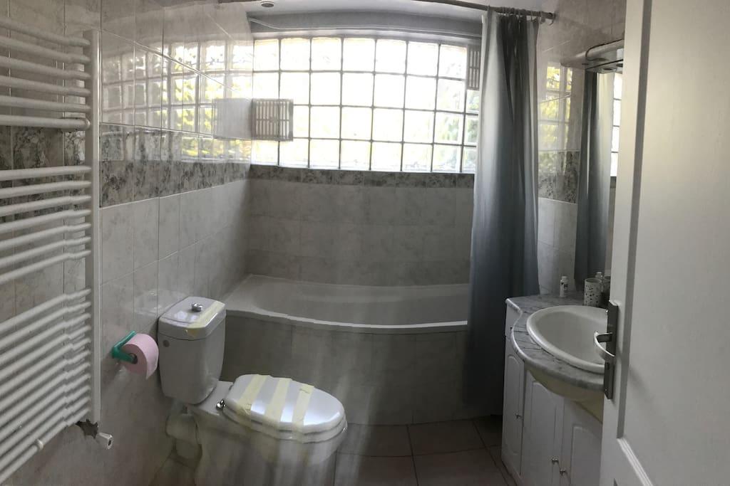 Salle de bain vue d'ensemble