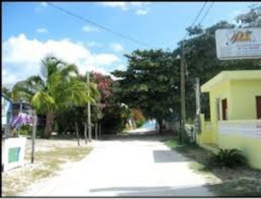 Our Street, just steps to the sea and beach area