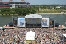 Riverfront stage!
