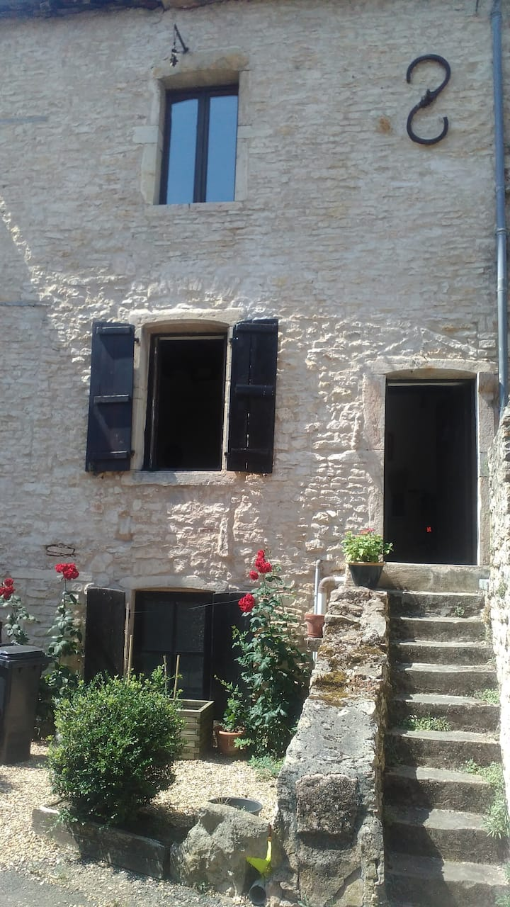 Double room in Medieval village house.
