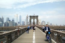 Walking the Brooklyn Bridge is easy and great sights.