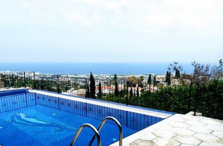 Communal pool with incredible views