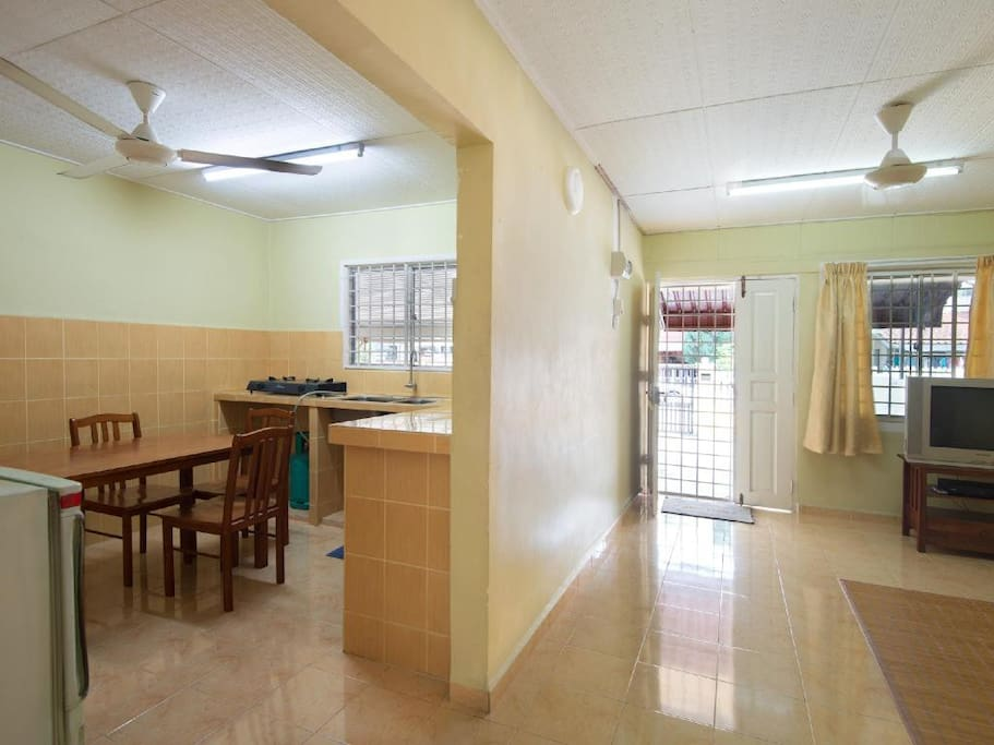view or living hall & kitchen
