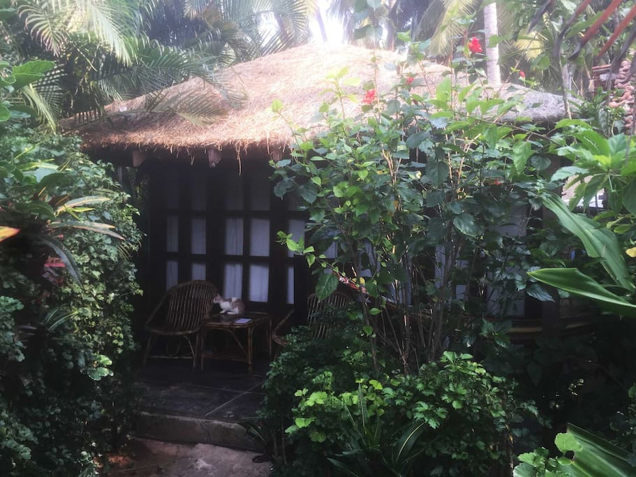 Hut outside view