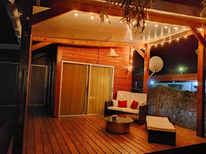 Hermosa cabaña a 2 cuadras de la playa