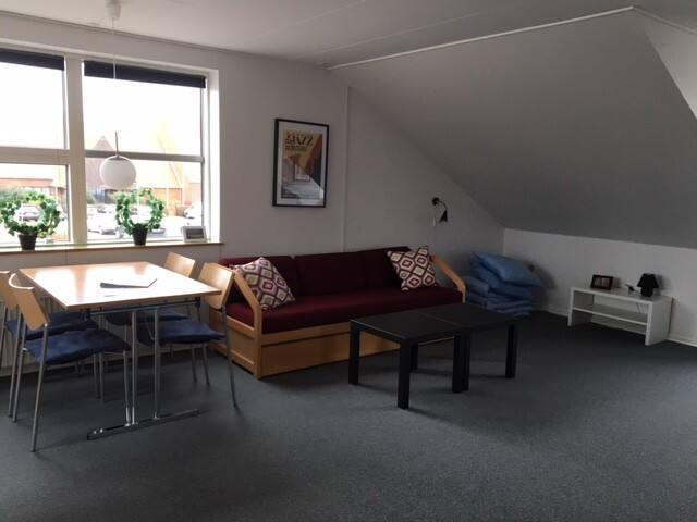 Fantastisk lejlighed i Ribe m. plads 13 personer.