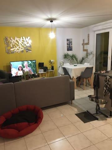 Cosy appartement en rez de jardin