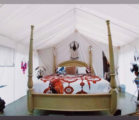 "Valley Village ""Dream Catcher"" glamping tent"