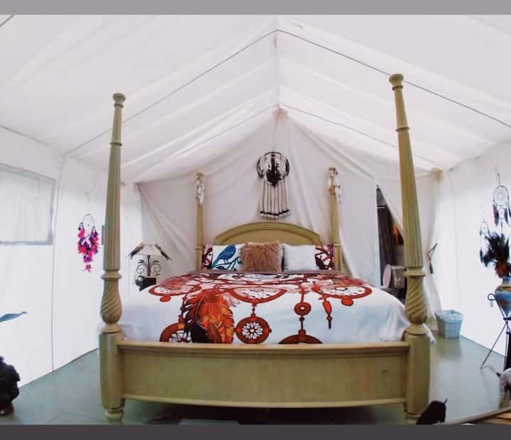 "Valley Village ""Dream Catcher"" glamping tent"