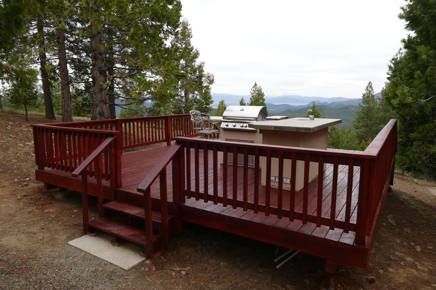 We keep the deck and outdoor kitchen in top condition.