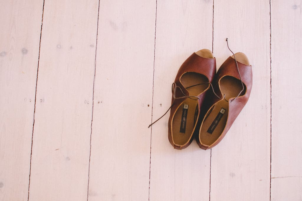 White washed wooden floors you'll want to kick your's shoes off for.