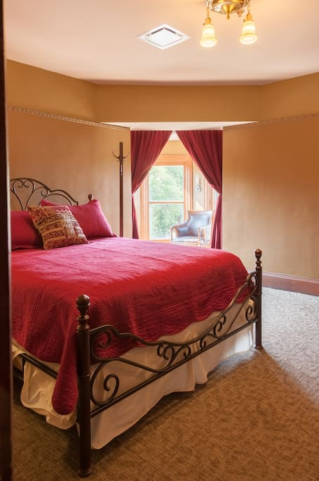 Bedroom 2 with turret view