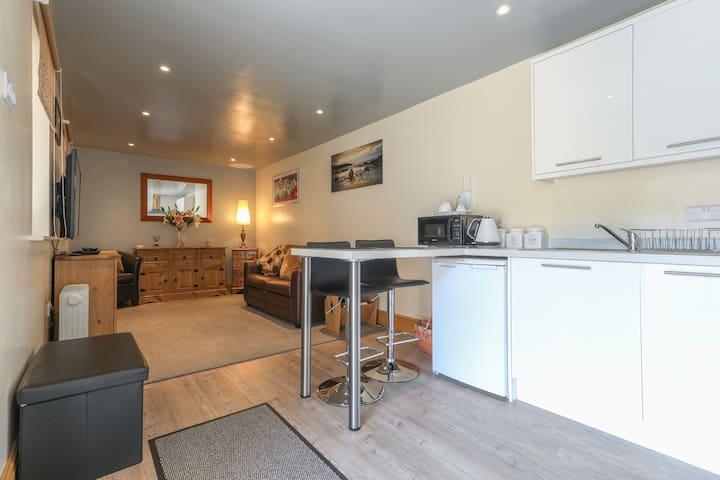 Living area with underfloor heating