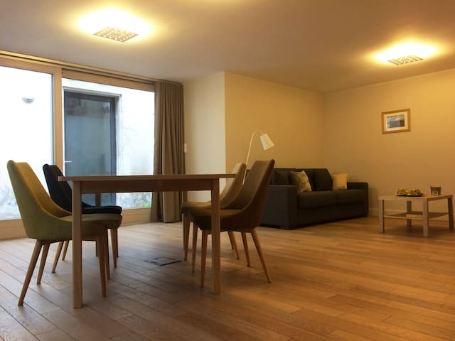 L'Aparté, grand studio avec patio à 8mn place Stan - Nancy - Apartemen