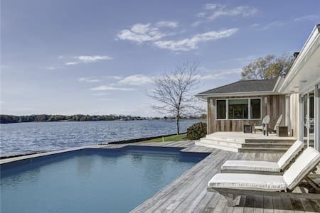 Mid-century Modern Magical Waterfront Home - 绍斯霍尔德 (Southold)
