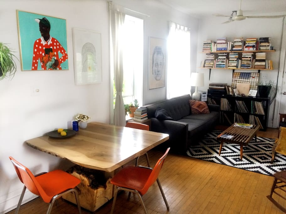 Shared dining/living space