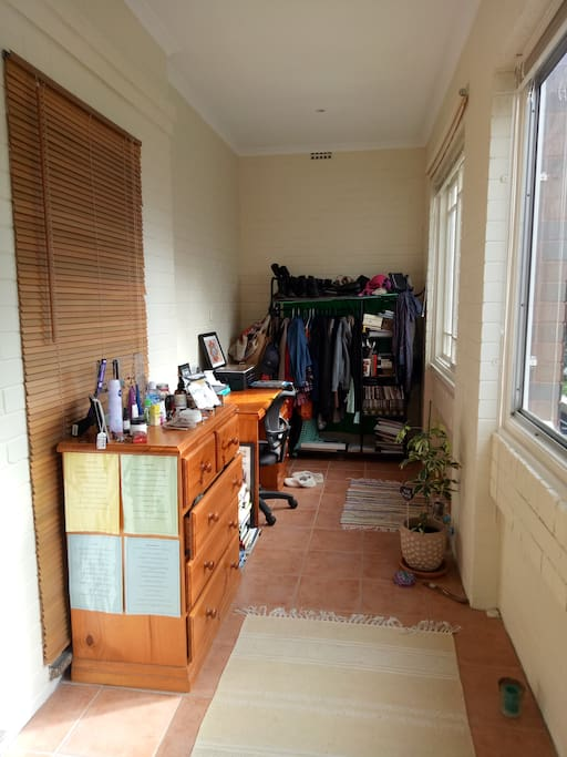 Dresser, Desk and Clothes Rack