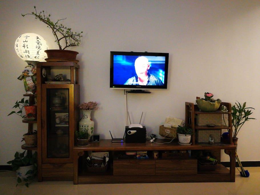 客厅,中式风格,古典家具,带全套茶盘及茶具