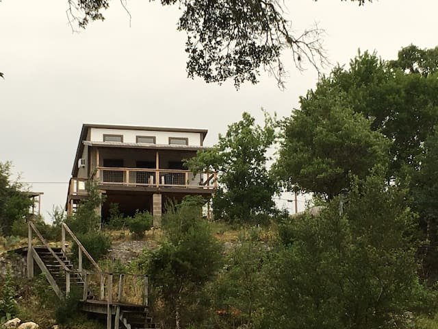 View of Tree Top Cabin from the river