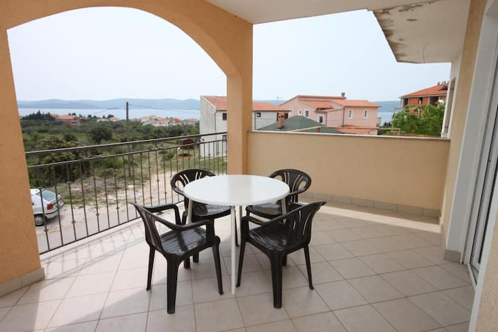 Two bedroom apartment with terrace and sea view Sveti Petar, Biograd (A-6169-a)