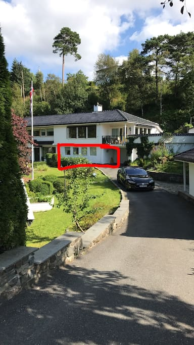 Apartment is part of a larger villa. Private entrance.