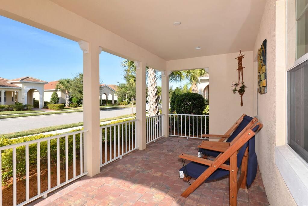Comfortable Front Porch.