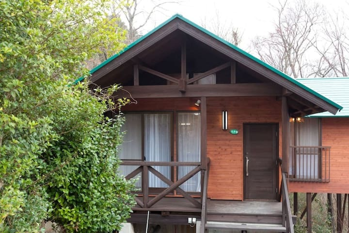 Forest Cottage with hot springs, close to Mt. Hiruzen in Okayama