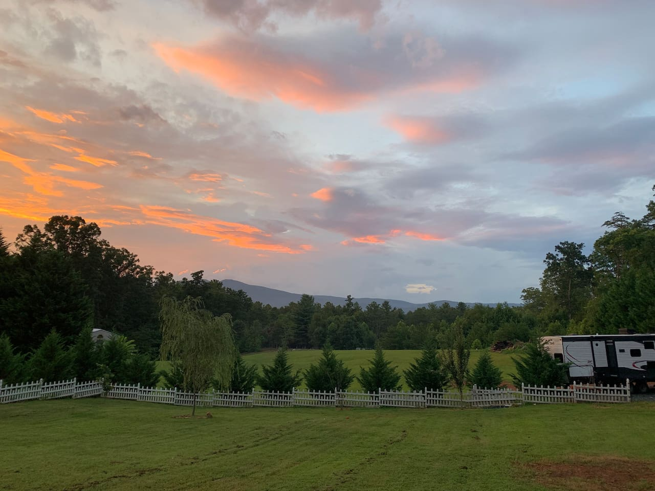 View from back porch of main house. Photo taken 7/18/19