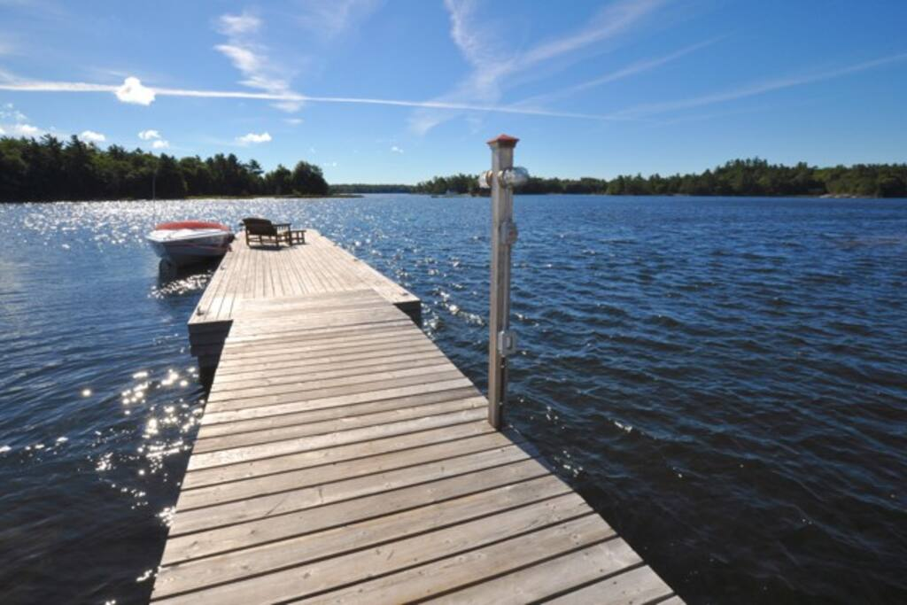Main dock for the resort property
