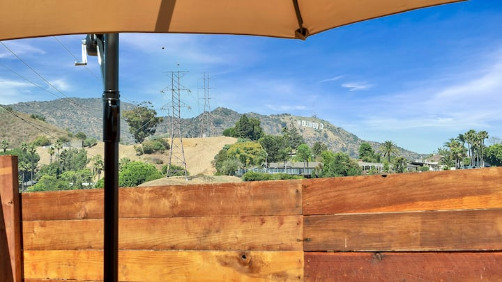 Tiny House Hollywood Sign View