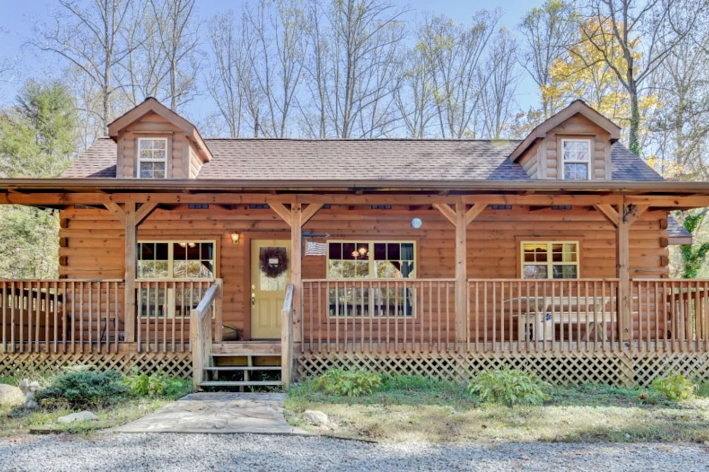 Enjoy the peace and quiet of this lovely Hendersonville vacation rental cabin