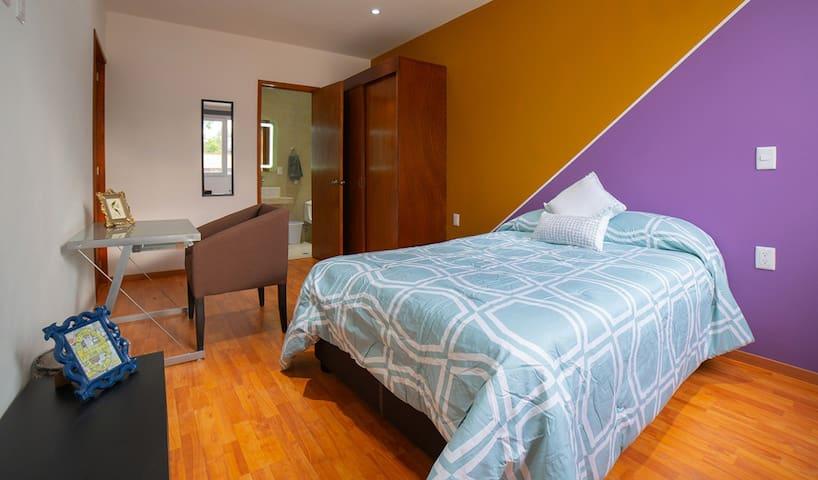 Hermosa habitación con baño privado en Polanco. 2D