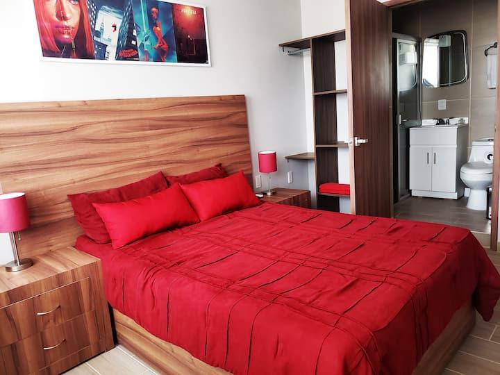 Magnifica habitación #5 Cerca CAS, CONSULADO. EXPO