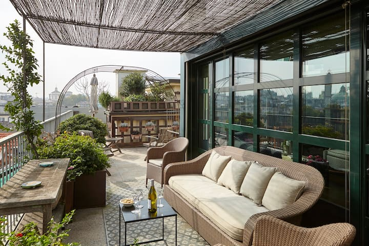 Superb terrace with view in fashion district. - Milano - Apartment