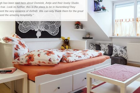 Centrally located Rosenau Studio - sunny & modern - Nürnberg - Appartement