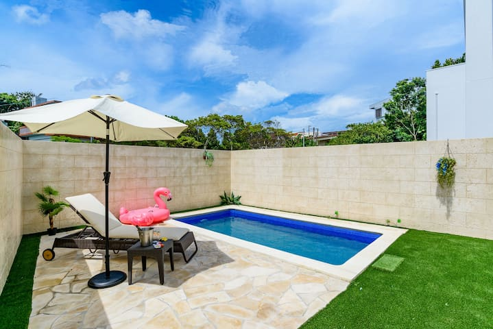 90 Private Pool♡Onna/BabyFriendly/3BR/Max13ppl/A