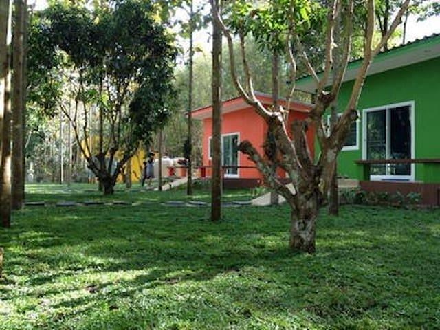 teak villa khaoyai resort - Tambon Pak Chong - Huis