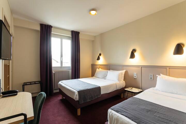 Belle Chambre familiale pour 3, Centre Ville-Gare