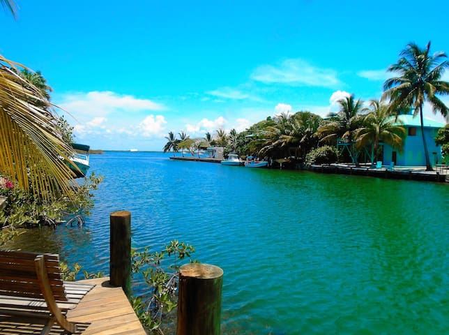 The perpetually calm waters of the beautiful Placencia lagoon.