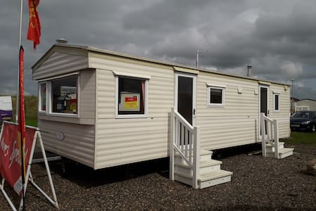 Modern bright spacious caravan