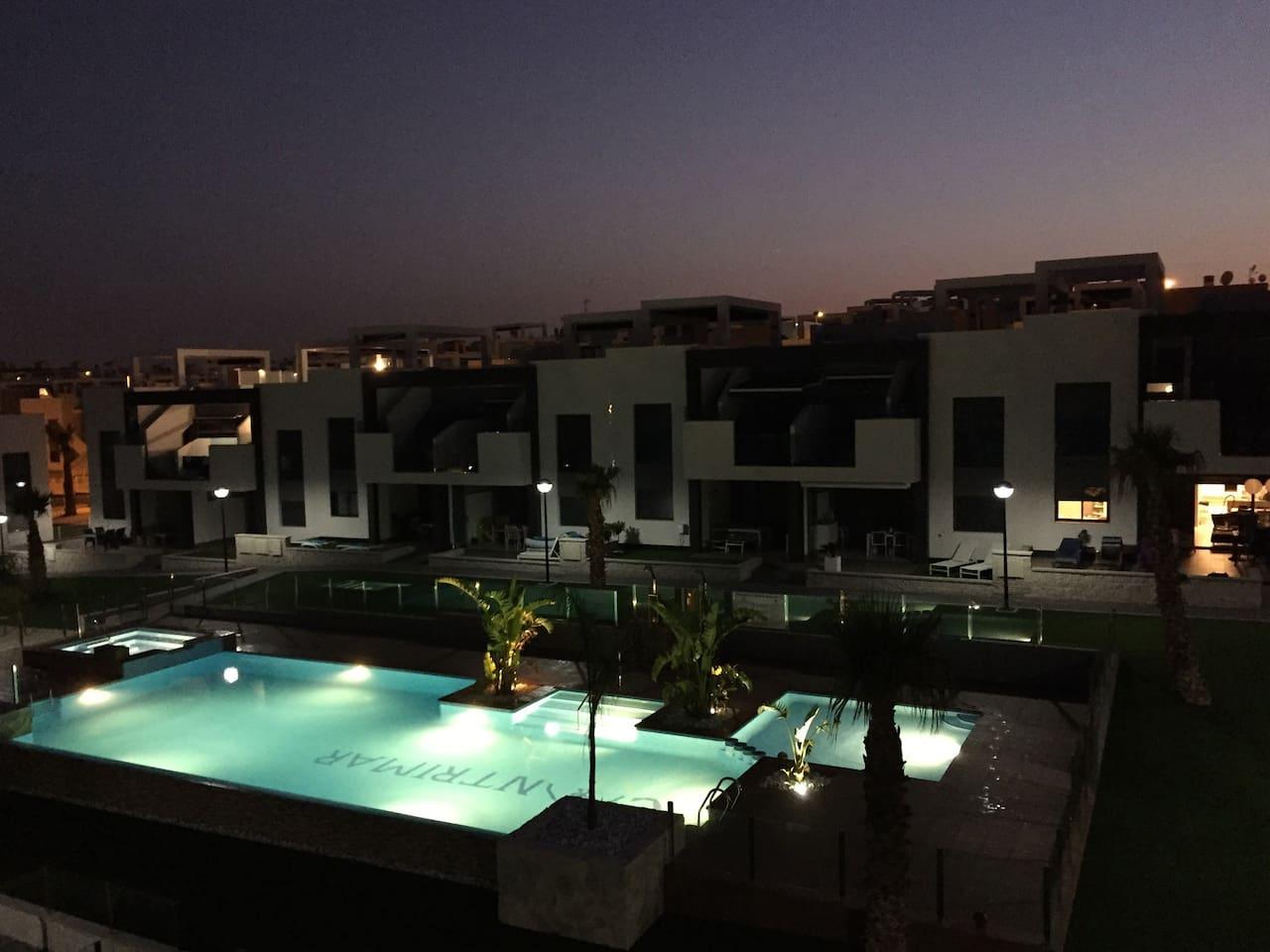 Swiming pool from solarium terrace
